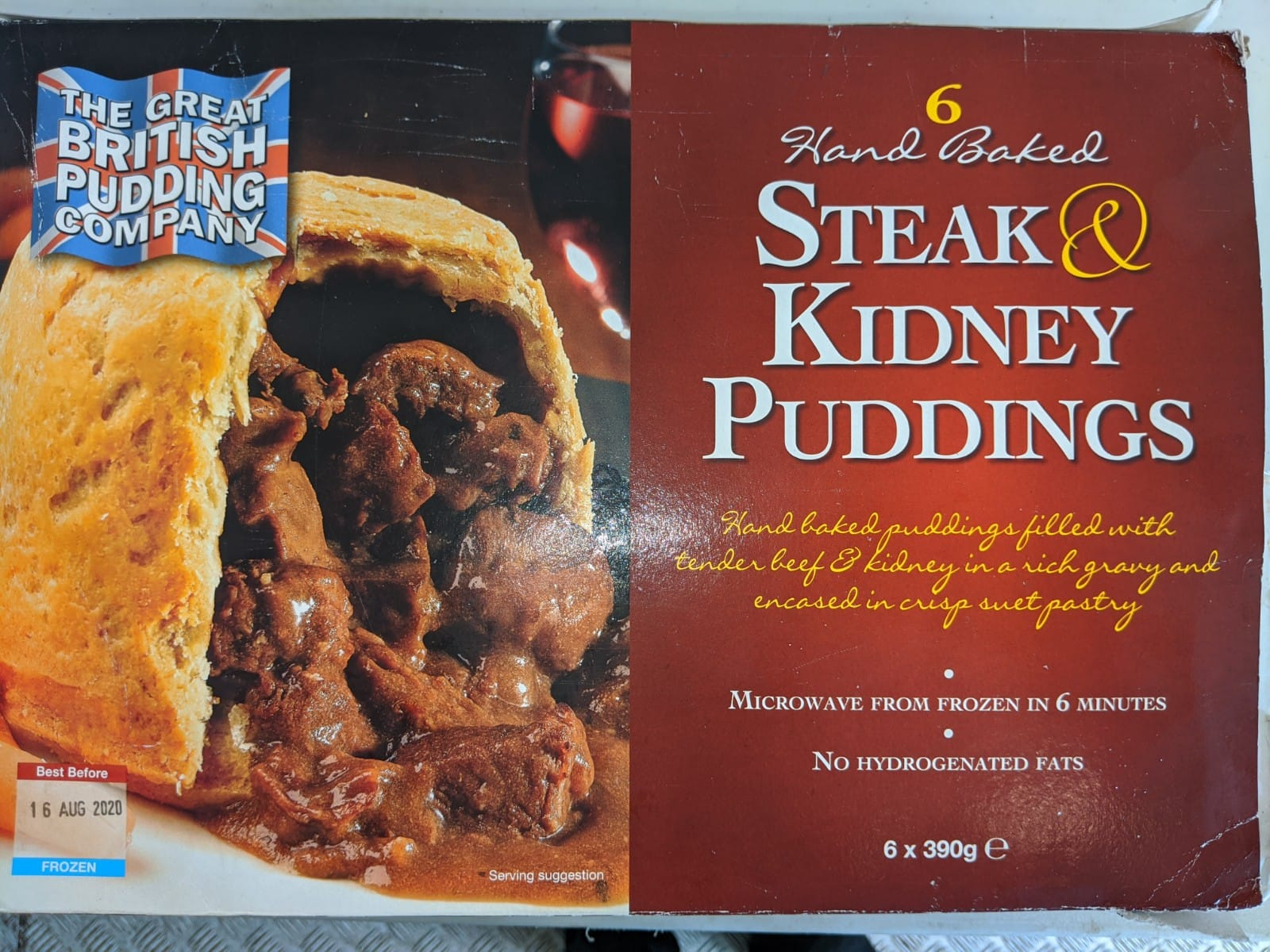 Steak & Kidney Pudding - 370g - The Inn Shop